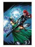 Black Widow & The Marvel Girls No.2 Cover: Black Widow, Wasp and Dr. Doom Prints by Salva Espin