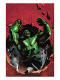 Ultimate Origins 4 Cover: Hulk Poster by Gabriele DellOtto