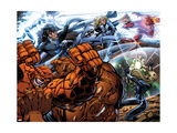 Fantastic Four No.553 Group: Thing, Invisible Woman and Mr. Fantastic Prints by Pelletier Paul