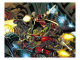 Guardians Of The Galaxy 1 Group: Rocket Raccoon, Star-Lord and Quasar Poster by Pelletier Paul