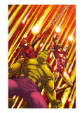 Marvel Adventures Super Heroes No.2 Cover: Hulk, Spider-Man and Iron Man Prints by Roger Cruz
