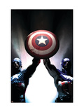 Captain America Reborn: Who will weild the shield Cover: Captain America Print by Gerald Parel