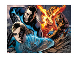 Fantastic Four 569 Cover: Invisible Woman, Mr. Fantastic, Human Torch and Thing Poster by Bryan Hitch
