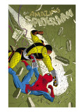 The Amazing Spider-Man No.579 Cover: Spider-Man and Shocker Prints by Marcos Martin