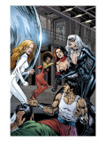 Heroes For Hire 7 Group: Black Cat, Knight, Misty, Tarantula, Shang-Chi, Wing and Colleen Fighting Prints by Al Rio