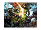 Incredible Hulk 607 Group: Thor, Skaar, Ronin and Red She-Hulk Print by Pelletier Paul