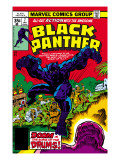 Black Panther 7 Cover: Black Panther Fighting Prints by Jack Kirby