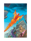 Human Torch No.10 Cover: Human Torch Print by Joe Dodd