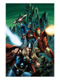 Thor 81 Cover: Thor, Iron Man and Captain America Prints by Epting Steve