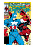 Amazing Spider-Man No.323 Cover: Captain America and Spider-Man Prints by Todd McFarlane