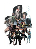 X-Factor 23 Cover: Madrox, Wolfsbane, Miller, Layla, Siryn and Quicksilver Prints by Raimondi Pablo