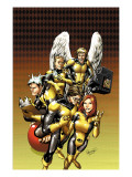 X-Men: First Class No.12 Cover: Cyclops, Marvel Girl, Iceman, Angel and Beast Prints by Carlo Pagulayan