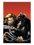 Wolverine No.15 Cover: Wolverine and Sabretooth Poster by Darick Robertson
