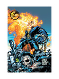 Ghost Rider V3 6 Cover: Ghost Rider and Gunmetal Gray Poster by Kaniuga Trent