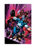New Avengers 12 Cover: Captain America Affiches par David Finch