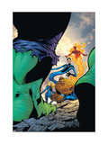 Marvel Adventures Fantastic Four 29 Cover: Thing, Mr. Fantastic, Invisible Woman and Human Torch Prints by Kirk Leonard