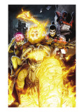 Timestorm 2009/2099 No.2 Cover: Ghost Rider, Punisher, Cerebra, Spider-Man and Human Torch Posters by Salvador Larroca