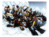 New X-Men 45 Group: Cable, Wolverine and Caliban Art by Humberto Ramos