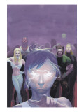 House Of M 5 Cover: Miller, Layla, Wolverine and Emma Frost Flying Prints by Ribic Esad