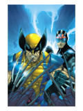 X-Men 159 Cover: Wolverine and Havok Posters par Salvador Larroca