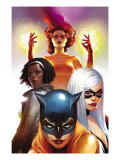 Marvel Divas No.2 Cover: Hellcat, Black Cat, Photon and Firestar Prints