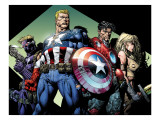 Ultimatum 3 Group: Captain America, Hawkeye, Iron Man and Valkyrie Prints by David Finch