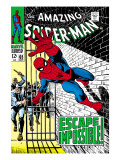 The Amazing Spider-Man No.65 Cover: Spider-Man Charging Art by John Romita Sr.