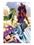 Civil War: House Of M 2 Group: Magneto, Polaris and Quicksilver Print by Andrea Di Vito