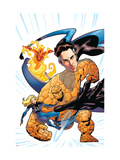 Marvel Adventures Fantastic Four 30 Cover: Mr. Fantastic, Invisible Woman, Thing and Human Torch Print by Kirk Leonard