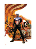 Captain America 41 Cover: Captain America Charging Prints by Epting Steve