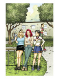 Spider-Man Loves Mary Jane Season 2 4 Cover: Mary Jane Watson, Stacy, Gwen, and Liz Allen Posters by Moore Terry