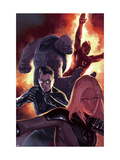 Ultimate Fantastic Four 50 Cover: Invisible Woman, Mr. Fantastic, Thing and Human Torch Prints