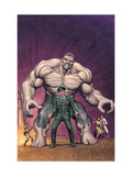 What If General Ross Had Become The Hulk Cover: Hulk and Thunderbolt Ross Prints by Frank Gary
