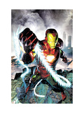 Iron Man vs. Whiplash No.4 Cover: Iron Man Prints by Brandon Peterson