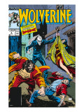 Wolverine No.4 Cover: Wolverine, Roughouse, Bloodsport and Karma Poster by John Buscema