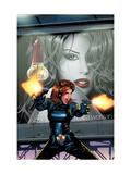 Black Widow No.3 Cover: Black Widow Kunstdrucke von Land Greg
