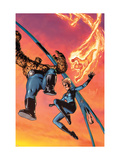 Fantastic Four No.514 Cover: Mr. Fantastic, Invisible Woman, Human Torch, Thing and Fantastic Four Prints by Ha Gene