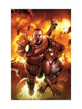 Invincible Iron Man No.16 Cover: Stark, Tony and Rescue Art by Salvador Larroca