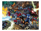 Guardians Of The Galaxy No.7 Group: Major Victory, Groot, Bug and Rocket Raccoon Prints by Pelletier Paul