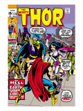 Thor No.179 Cover: Thor, Balder and Sif Prints by Jack Kirby