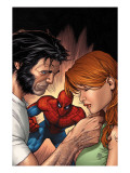 Marvel Knights Spider-Man No.13 Cover: Spider-Man, Wolverine, and Mary Jane Watson Prints by Billy Tan