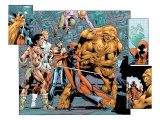 Alpha Flight 7 Group: Sasquatch, Alpha Flight, Nemesis and Yukon Jack Crouching Print by Ross Dave