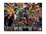 Avengers: The Initiative 4 Group: Hulk, Korg, Miek, No-Name, Hiroim and Elloe Kaifi Art by Stefano Caselli