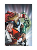 Avengers: The Initiative 22 Cover: Thor and Gauntlet Prints by Humberto Ramos