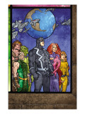 Secret Invasion: Inhumans 4 Group: Black Bolt, Medusa, Karnak, Gorgon, Crystal and Triton Print by Tom Raney