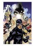 Uncanny X-Men 505 Cover: Cyclops, Emma Frost and Dazzler Print by Terry Dodson