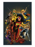 The Official Handbook Of The Marvel Universe: The Women of Marvel 2005 Cover: Spider Woman Charging Prints by Land Greg