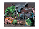 Incredible Hulk 107 Group: Hulk, Hercules, Namora, Cho, Amadeus and Angel Prints by Frank Gary