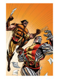 Wolverine First Class 21 Cover: Colossus and Wolverine Print by David Williams