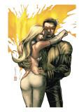 New X-Men No.156 Cover: Cyclops, Emma Frost and Phoenix Art by Salvador Larroca